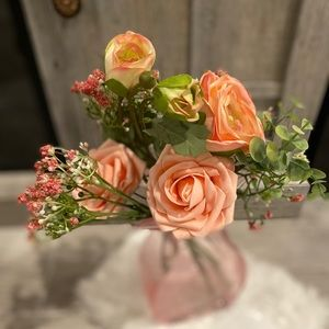 Pretty and pink flower arrangement